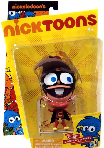 Nicktoons Fairly Odd Parents 6 Inch Articulated Action Figure - Timmy as The Boy Chin Wonder - 1
