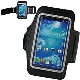 xubix Sport Wrap Tasche Sportarmband für das Samsung Galaxy S4, Active und Zoom in schwarz, ideal beim Sport wie Fitness oder Joggen
