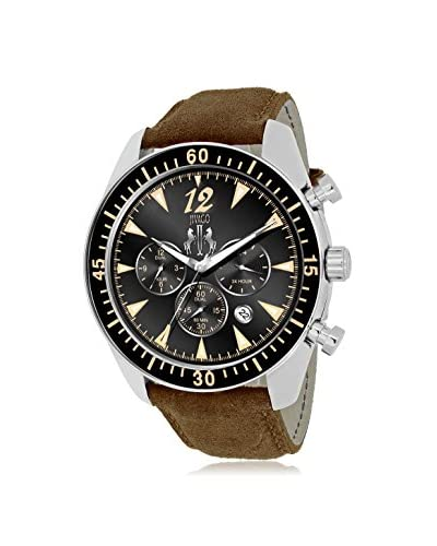 Jivago Men's JV4513 Timeless Black/Brown Leather Watch