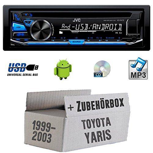 Toyota Yaris P1 1999-2003 - JVC KD-R472E - CD/MP3/USB Autoradio - Einbauset