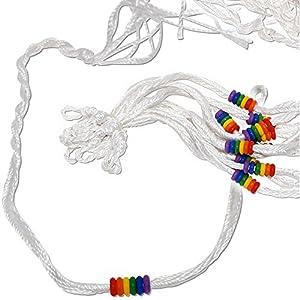 Bracelet Tissu Gay Multicolor Homo Bi Lesbienne Tres Fin 0,3cm Tressé Largeur