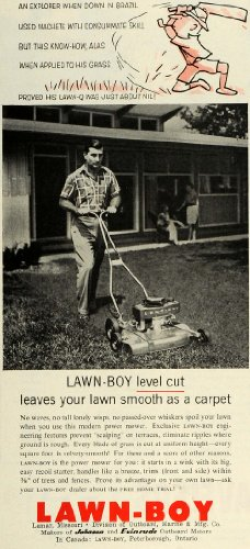Buy 1956 Ad Lawn-Boy Power Mower Peterborough Ontario Garden Equipment Yard Man - Original Print Ad