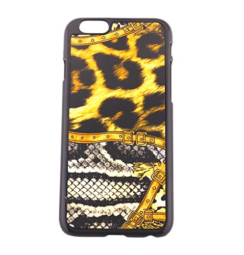 Fashion Animal Leopard and Python Print with Belted Buckle print iPhone 6 protective shell case Precision Fit