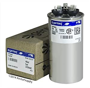 FAST SHIPPING! GE Capacitor round 40/5 uf MFD 370 volt 97F9849 (replaces old GE# 97F9849BZ3, 97F9849BX), 40 + 5 MFD at 370 volts