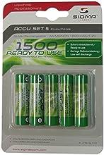 Comprar Sigma - Lote de 5 pilas recargables para cargador 1500