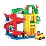 Fisher-Price Little People Racing Ramps Garage Playset