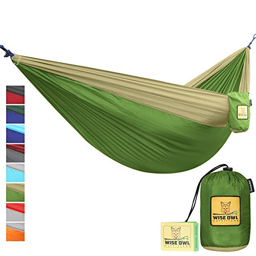 The Ultimate Single & Double Camping Hammocks- The Best Quality Camp Gear For Backpacking Camping Survival & Travel- Portable Lightweight Parachute Nylon Ropes and Carabiners Included! DOGK (Double Person Hammock Camping compare prices)