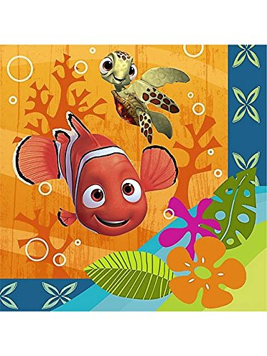 Disney Nemo's Coral Reef Beverage Napkins (16 count) Party Accessory