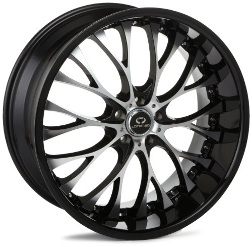 51J0GaJE66L LORENZO WL027 Series Gloss Black With Chrome Lip Wheel