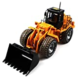 Velocity Toys Construction Bulldozer Electric Rc Truck Scraper Series 6Ch Channel Ready To Run Rtr, Big Size