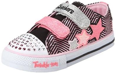 fec802b48bd1 Skechers Kids 10249N TWINKLE TOES - S LIGHTS - Shuffles - Triple Up Sneaker  with blinking lights (Toddler Little Kid)