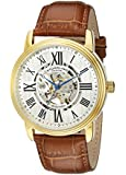 "Stuhrling Original Men's 1077.3335K2 ""Classic Delphi Venezia"" Stainless Steel Automatic Watch with Leather Band"