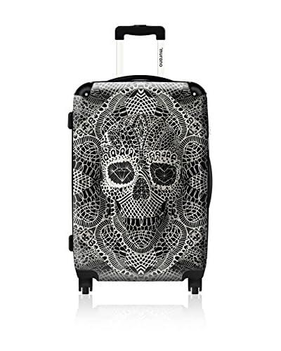 ikase Bohemian Art Skull 24 Hardcase, White