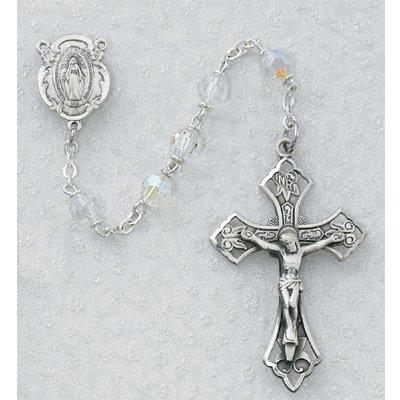 6mm Tin Cut Crystal Rosary.