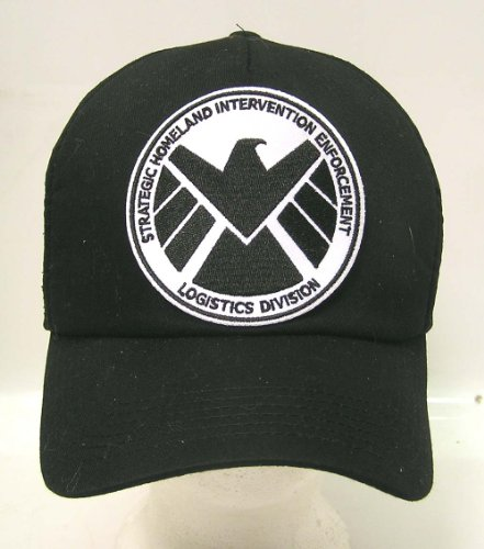 AGENTS OF SHIELD TV Series Black & White Logo Baseball Cap/Hat w Patch