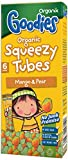 Organix Organic Goodies Mango and Pear Squeezy Tubes 30 g (Pack of 5)