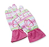 Melissa & Doug Cutie Pie Butterfly Gardening Gloves With Elastic Wrist Closure