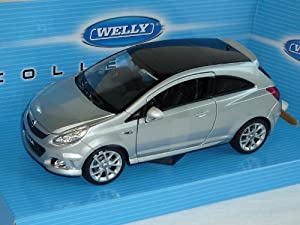 opel corsa d opc silber ab 2006 3 t rer 1 24 welly modellauto modell auto toys. Black Bedroom Furniture Sets. Home Design Ideas