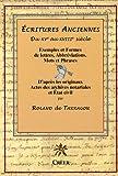 echange, troc Roland de Tarragon - Ecritures Anciennes XVe-XVIIIe siècle : Exemples et formes de lettres, abréviations, mots et phrases