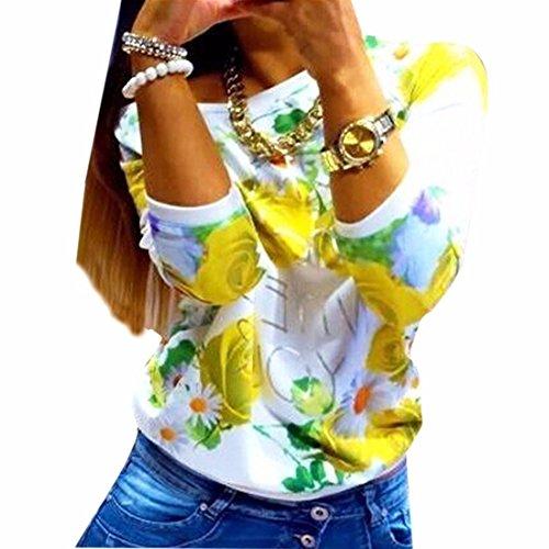 QIYUNZ-Femmes-DhiverAutomne-Rose-Imprime-Hoddies-T-shirt-Manches-Longues-En-Coton-Melanges