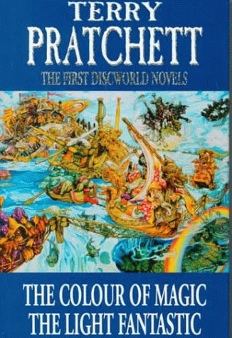 the first discworld novels the colour of magic and the