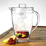 Ice Core Fruit Infuser Pitcher 70oz / 2ltr by bar@drinkstuff | Gift Boxed | BPA Free Plastic Pitcher with Fruit Infusion Core, Pimm's Jug