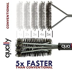 "Qually United® - a Must Have 18"" Best BBQ Grill Brush 3 in 1, Durable and Effective, Barbecue Grill Brush Bristles are Made of Stainless Steel Woven Wire - a Perfect Gift for All Barbecue Lovers by Qually United®"