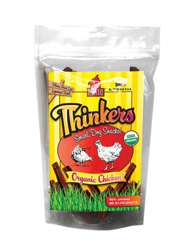 Plato's Thinkers, Organic Chicken Sticks Dog Treats, 12oz pouch