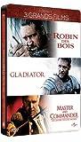 echange, troc Coffret Russell Crowe boîtier métal - Robin des Bois, Gladiator, Master & Commander