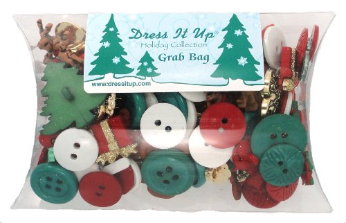 Christmas Buttons Grab Bag