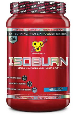 BSN ISOBURN Protein Powder - Vanilla ice cream 1.32 Pound (5oz Ice Cream Scoop compare prices)