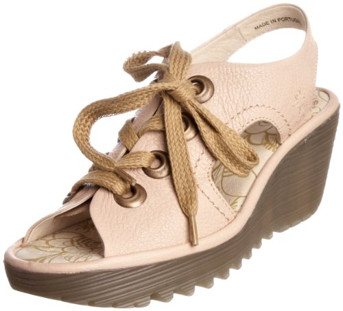Fly London Women's Ylva Cream Wedge Heel P500209000 5 UK