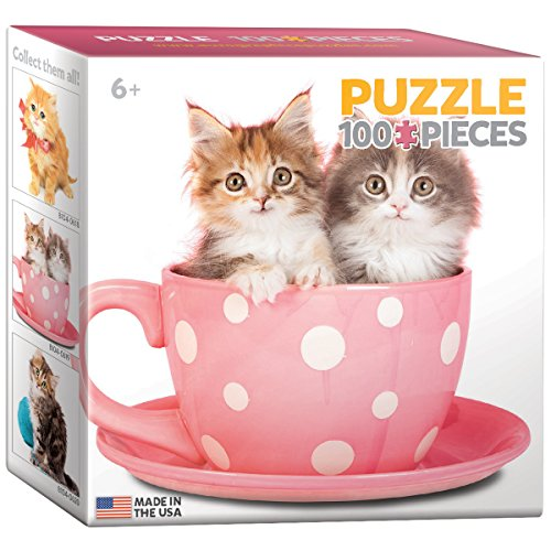 EuroGraphics Kitten in a Cup Mini Puzzle (100-Piece)