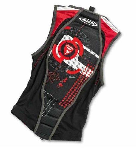 Alpina Jacket Soft Protector II (Mit Nierengurt) Rückenprotektor black/red, Größe:>185