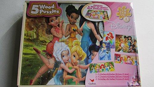 5 Wood Puzzles Disney