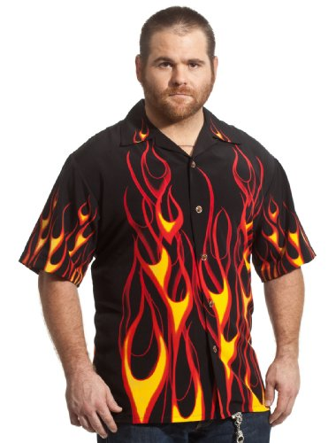 NEW Classic Flames Biker Hot Rod Shirt, Dragonfly (2xl)
