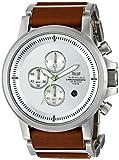 Vestal Men's PLE034 Plexi Acetate Silver Chronograph with Brown Leather Watch/ベスタル/腕時計/メンズ/並行輸入品