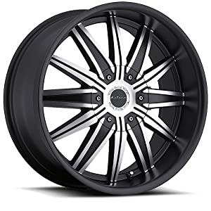 Katana K107 Matte Black Machined Wheel (20×9)