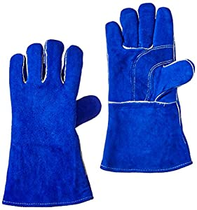 US Forge 400 Welding Gloves Lined Leather, Blue from Us Forge