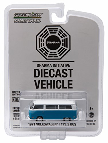 1971 VOLKSWAGEN TYPE 2 BUS (T2B) DARMA VAN from the classic television show LOST * GL Hollywood Series 12 * 2016 Greenlight Collectibles Limited Edition 1:64 Scale Die Cast Vehicle