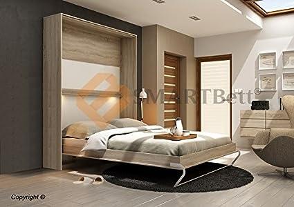 Armario de pared smart cuna cama plegable cama 160 x 200 - Cama plegable pared ...