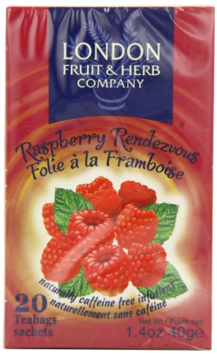 London Fruit and Herb Raspberry Rendezvous 20 Teabags (Pack of 6, Total 120 Teabags)
