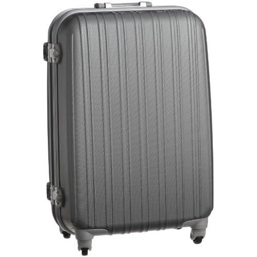 [ジェットエージ] JETAGE ウォッシュ ポリカーボネート製スーツケース Mサイズ(63cm) 74-20215 シルバー (シルバー)