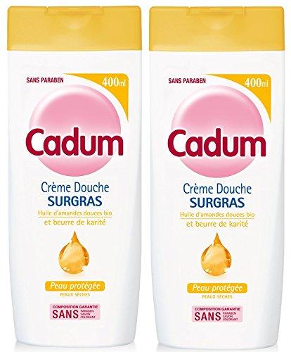 Cadum-Crme-Douche-Surgras-Huile-dAmandes-Douces-Bio-et-Beurre-de-Karit-400-ml-Lot-de-2