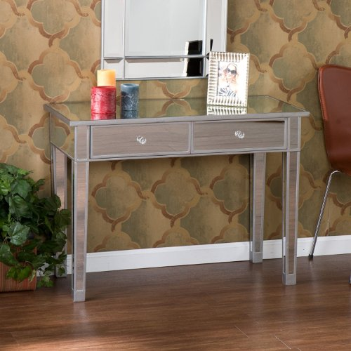 Cheap Accent Mirror Hallway Console Table with 2 Drawers (B008YM4OXU)