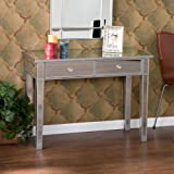Accent Mirror Hallway Console Table with 2 Drawers