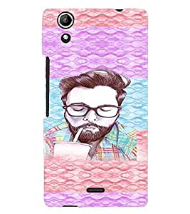 PRINTVISA Beard Man Case Cover for Micromax Canvas Selfie Lens Q345