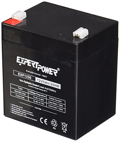 ExpertPower EXP1250  12V 5Ah Home Alarm Battery with F1 Terminals (Home Alarm Batteries compare prices)