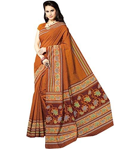 Roopkala Silks & Sarees Cotton Saree(BP-105_Mustard)