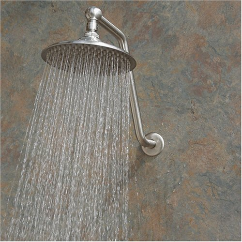 Atlantis 2 Rain Shower Head With Arm Brushed Nickel Best Adjustable Shower